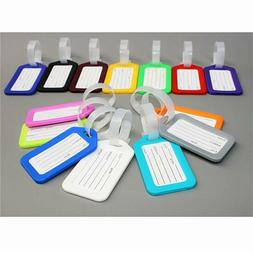 10 Travel Luggage Bag Tag Plastic Suitcase Baggage Office Na