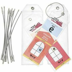Juvale 10-Pack Clear Cruise Ship Luggage Tag Holders, 2.5 x