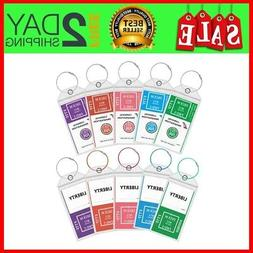 10 Pack Cruise Tags Luggage Etag Holders Zip Tag Hold for CA