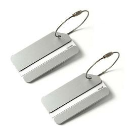 100 luggage tags stainless steel id bag