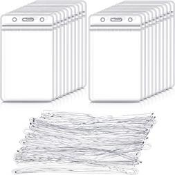 100 Pack Clear Luggage Identification Tags Waterproof Luggag