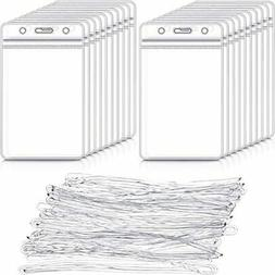 100 Pack Clear Luggage Identification Tags Waterproof Name B