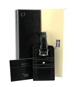 MONTBLANC 105257 LIFESTYLE ACCESSORIES LUGGAGE TAG BLACK LEA