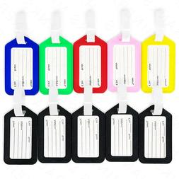 10x luggage tags travel suitcase bag tag
