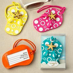 192 Flip Flop Luggage Tags in Decorative 24 Piece Display Bo