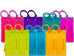 14 Pack TravelMore Luggage Tags For Suitcases, Flexible Sili