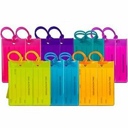 14 pack luggage tags for suitcases flexible
