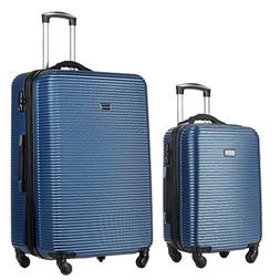 2 PC Luggage Set Durable Lightweight Hard Case Spinner Suite