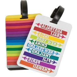 2 Baggage Luggage Suitcase Id Holder Name Travel Tags Bag Ba