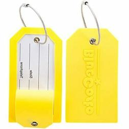2 Pack Luggage Tag Label Suitcase Tags Travel Bag Labels W/P