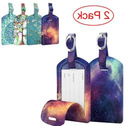 2 pack luggage tags name address id