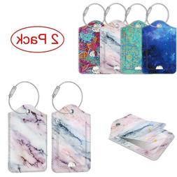 Luggage Tags Name ID Labels with Privacy Cover For Travel B