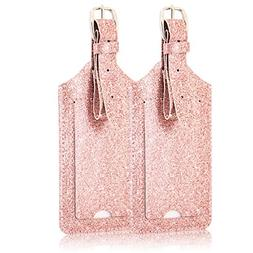 2 Pack Luggage Tags, ACdream Premium PU Leather Case Name Lu