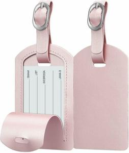 2 Pack Suitcase Luggage Tags Name Address ID Labels Privacy