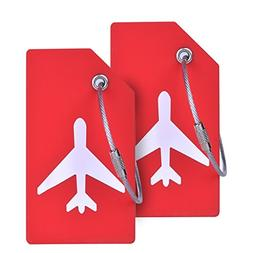2Pack Silicone Luggage Tag With Name ID Card Perfect to Quic
