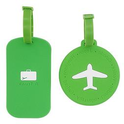 2pcs Luggage Tags,Silicone Travel Luggage Tags Suitcase Labe