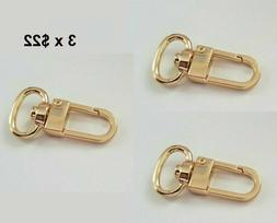 3x Luggage Tag Swivel Hook for Louis Vuitton ,Bag Charm, Nam