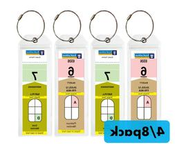 Pack NARROW Cruise Tags - Luggage Etag Holder with Zip Seal