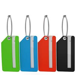 4-Pack Mini Rubber Luggage Tag
