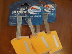 4 pc- Large American Tourister Privacy Luggage Suitcase Tags