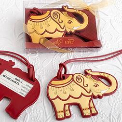 FavorOnline Adorable Ruby Red And Cream Elephant Luggage Tag