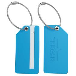 4pack small luggage tags fully bendable rubber