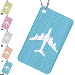 5Pcs Aluminium Luggage Tags Suitcase Label Name Address ID B