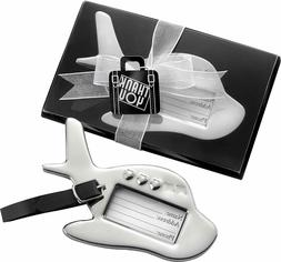 60 Airplane Luggage Tag in Gift Box Wedding Bridal Shower Gi