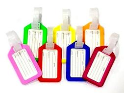 7 Piece Multi-Color Plastic Luggage Tag for Suitcase Baggage