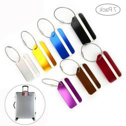 7 x travel luggage tag metal suitcase