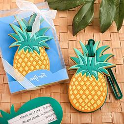 Pineapple Themed Luggage Tag Travel Favors, 36