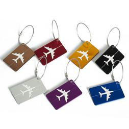 7* Aluminium Luggage Tags Suitcase Label Name Address ID Bag