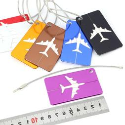 7pc luminium Luggage Tags Suitcase Label Name Address ID Bag