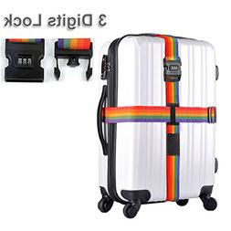 Adjustable Luggage Strap Long Cross Design Travel Suitcase B