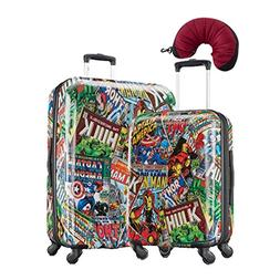 American Tourister Marvel 2-PC Spinner Set w/Travel Pillow