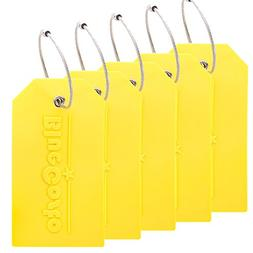BlueCosto 5x Luggage Tags Suitcase Tag Travel Bag Labels w/P