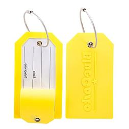 BlueCosto Luggage Tag Suitcase Accessories w/ Privacy Cover