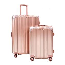 Buorsa Light Weight Luggage Sets ABS Suitcase Sets with Spin