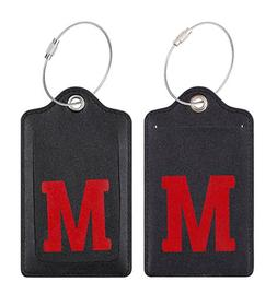 Chelmon Initial Luggage Tag with Full Privacy Cover and Stai