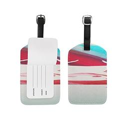 Creativity Art Power Abstract Bright Pattern Luggage ID Tags