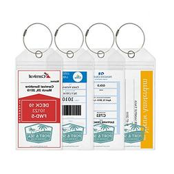 Cruise Luggage Tags/Etag holders with Zip Seal and Steel Loc
