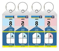 Cruise Luggage Tags Holders Large With Zip Seal & Steel Loop