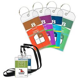 Cruise Luggage Tags Suitcase Labels 4 Pack Cruise Tags & 2 C
