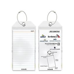 Cruise Tags 2 Pcs - PVC Luggage Tags With Zip Seal&Steel Loo