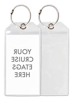 Cruise Tags - Cruise Ship Luggage Etag Holder with Zip Seal