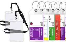 Cruise Tags Luggage Etag Holders Zip Seal & Steel Loops Thic