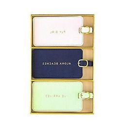 Eccolo World Traveler Luggage Tag Set of 3, Aloha, Aloha, On