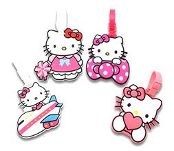 Finex Set of 4 Hello Kitty Travel Luggage ID Tag for Bags Su
