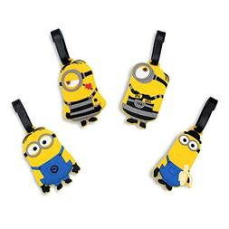Finex Set of 4 - The Minions Travel Luggage Tags Bag Tag wit