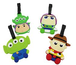 Finex Set of 4 - Toy Story Woody Buzz Lightyear Squeeze Alie